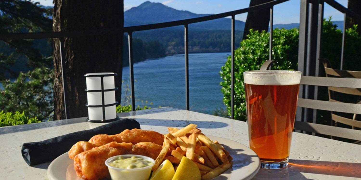 Fish and Chips and a Cold Pint on the Terrace